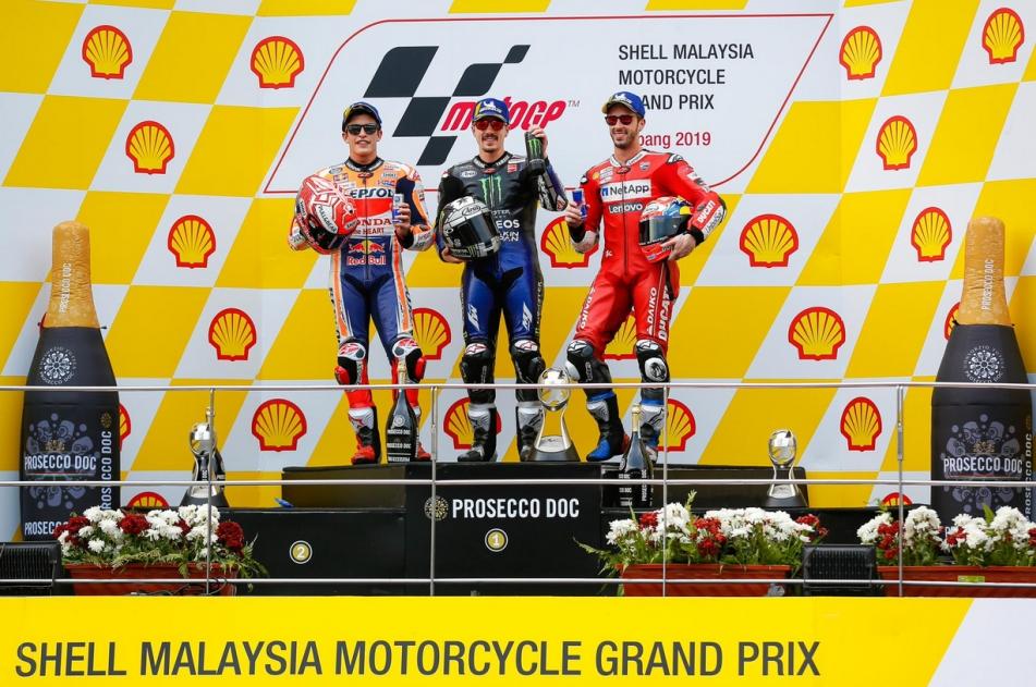 Podium MotoGP Sepang 2019
