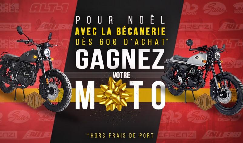 Gagnez votre moto pour Noël avec La Bécanerie