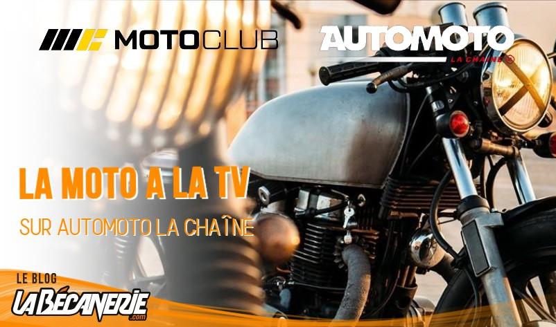 La moto à la TV sur Automoto La Chaîne