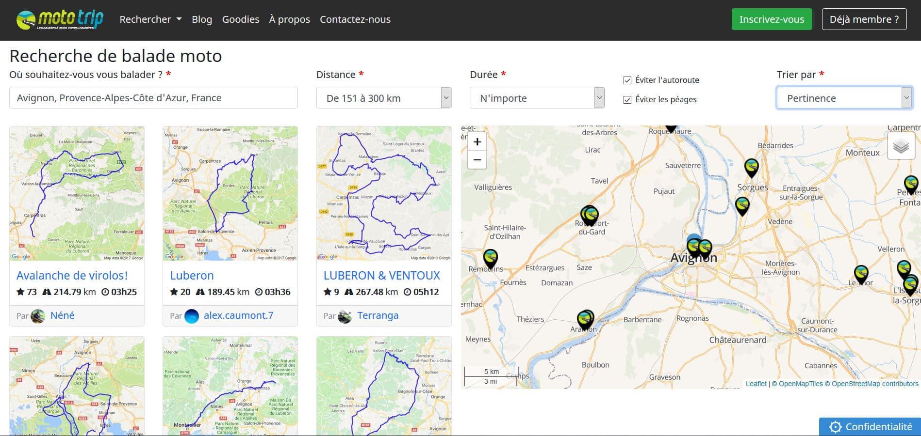 Moto-Trip site communautaire de balades moto
