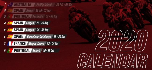 Nouveau calendrier WSBK 2020