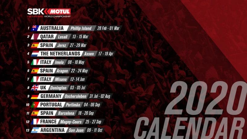 calendrier WSBK 2020