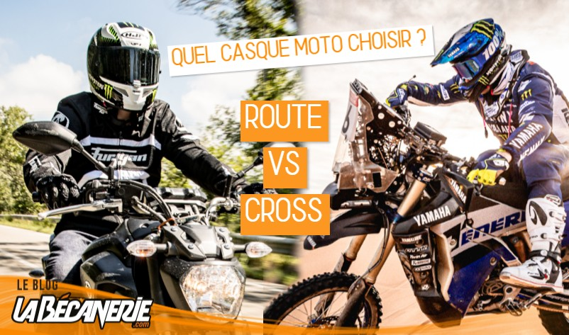 casque moto route ou cross