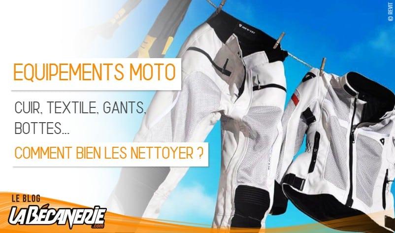 comment bien nettoyer son équipement moto