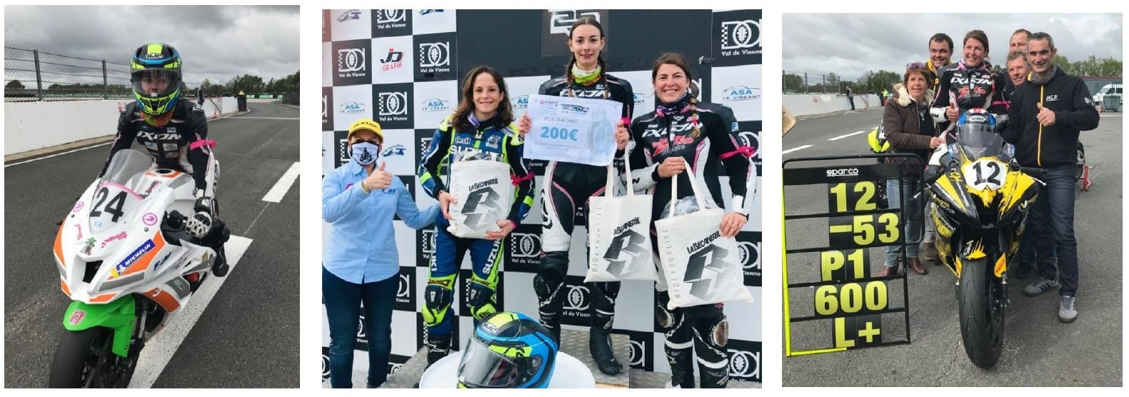 Podium scratch Women's Cup 2020 au Vigeant ©Aline Boury